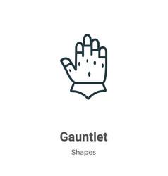 Gauntlet outline icon thin line black vector