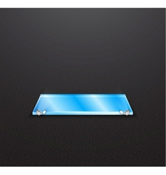 glass empty exhibition shelf with floodlights vector image