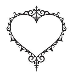 Graphic vintage heart vector