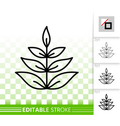 grass simple black line icon vector image