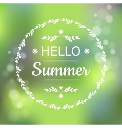 Hello Summer green card design with a textured vector image