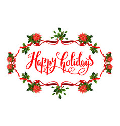 Holiday floral frame vector