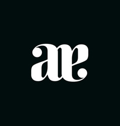 Initial letter a e logo template with serif font vector