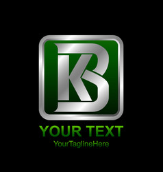 initial letter kb or bk logo template colored vector image