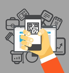 Internet commerce Flat design concept vector image