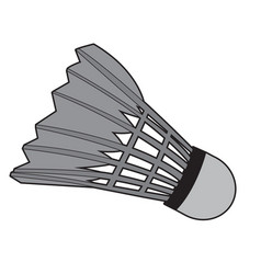 isolated badminton shuttlecock vector image