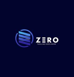 logo zero gradient colorful vector image