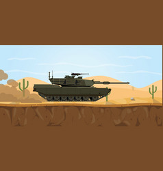 m1 abrams tank usa main battle tank on the desert vector image