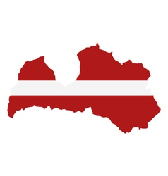 Map Latvia vector