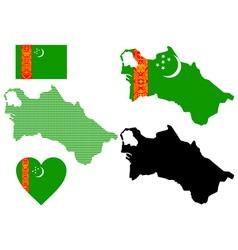 map of Turkmenistan vector image