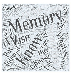 memory upgrade Word Cloud Concept vector image