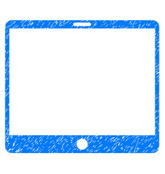 Mobile tablet grunge icon vector