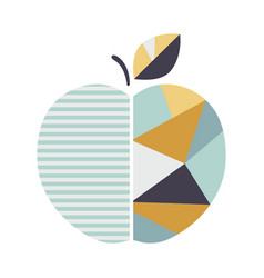 Modern geometric apple modern fruit poster good vector