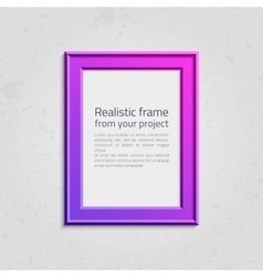 Modern picture frame with text vector
