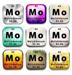 Molybdenum vector image
