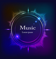 musical background dark blue olor frequencies vector image