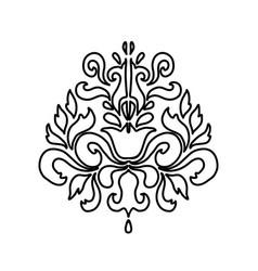oriental damask pattern element vector image