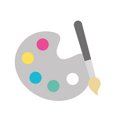 Paint brush isolated icon vector