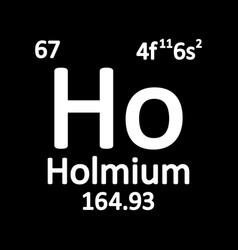 periodic table element holmium icon vector image