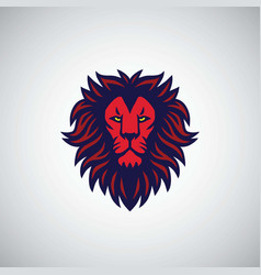 red lion logo design vector image