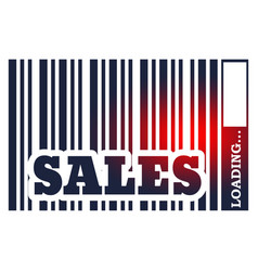 Sales word and bar code vector