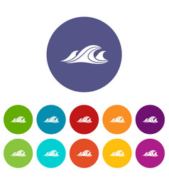 sea waves icon simple style vector image