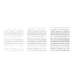 set lines hand drawn dividers doodle vector image