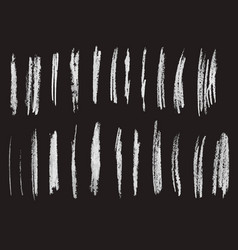 set of chalk brushes lines hand drawn vector image