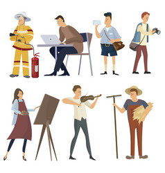 set professions collection people of vector image