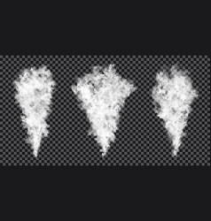 smoke stream on transparent background realistic vector image