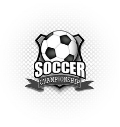 Soccer logo template design vector