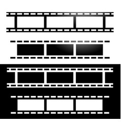 straight film strips photography media concept vector image