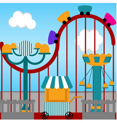 view of a carnival theme park vector image