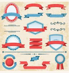 vintage grunge label set vector image
