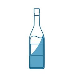 Wine bottle drink beverage outline icon shadow vector
