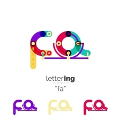 Alphabet letter font logo business icon vector image