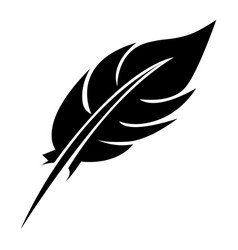 black feather icon stock vector image