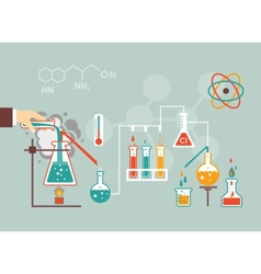 Chemistry demographic vector image vector image