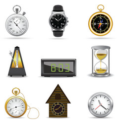 clocks and timers vector image vector image