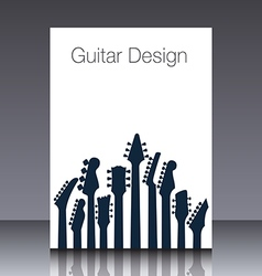 Guitar headstock Cover vector image vector image