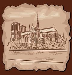 Notre Dam in Paris vector image vector image