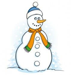 snowman illustration vector image vector image