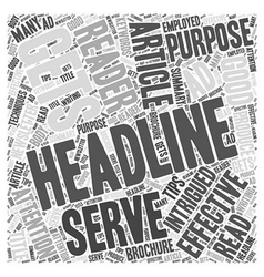 Tips for writing effective headlines Word Cloud vector image