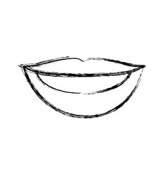 Blurred silhouette drawing of woman lips with vector