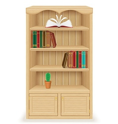 bookcase 02 vector image vector image
