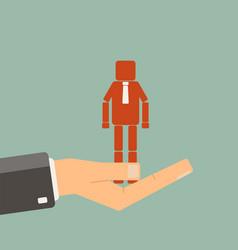 businessman choosing a worker recruitment agency vector image