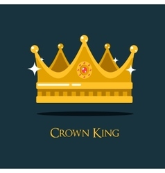 Medieval queen crown or king headdress vector