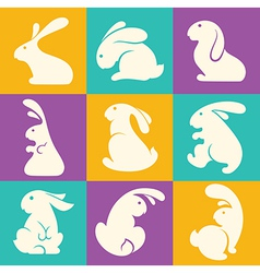 rabbit collection vector image vector image