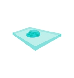 Bacteria on the laboratory glass cartoon icon vector image