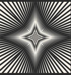 black white starburst background striped stars vector image